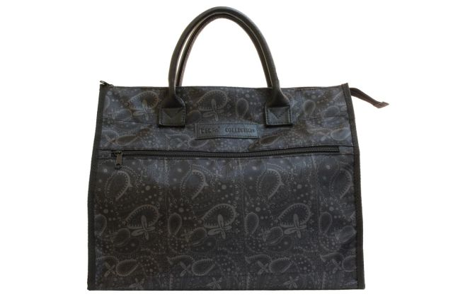 1107к сумка женская клетка черная