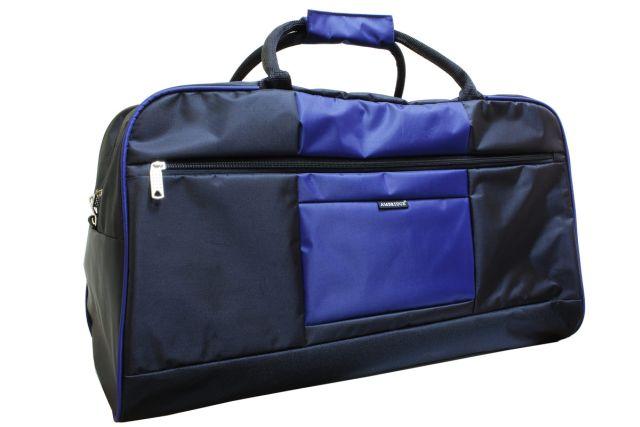 1106к сумка дорожная черная/синяя