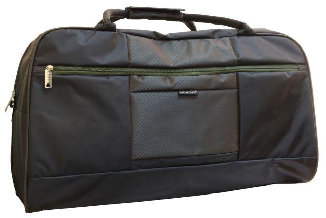 1106к сумка дорожная черная/хаки