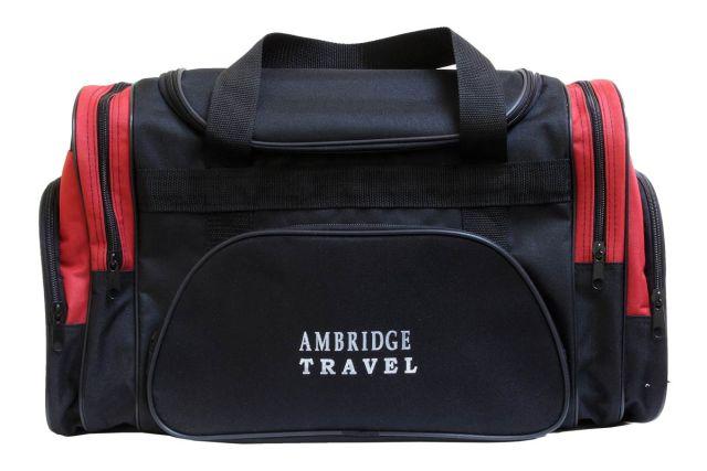 1213к сумка дорожная черная/красная
