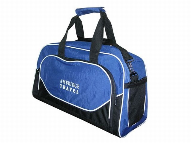 0528к сумка спортивно-дорожная синяя/черная
