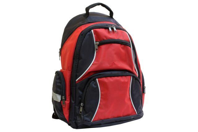 1007к рюкзак черный/красный
