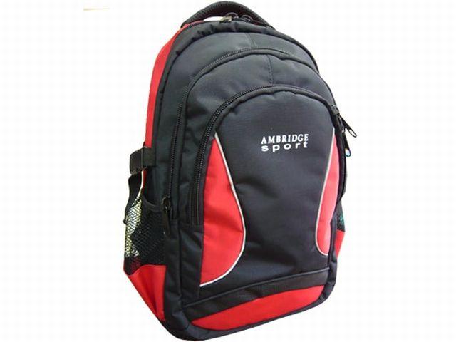1208к рюкзак черный/красный