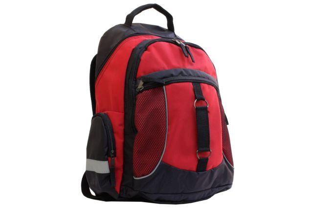 1009к рюкзак черный/красный