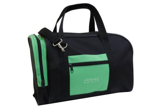 0141к сумка спортивно-дорожная черная/зеленая