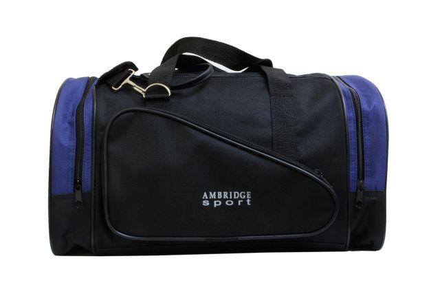 1212к сумка спортивно-дорожная черная/синяя