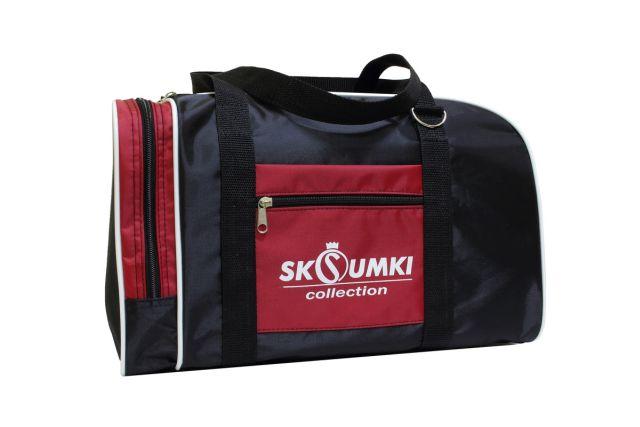 0141к сумка спортивно-дорожная черная/красная