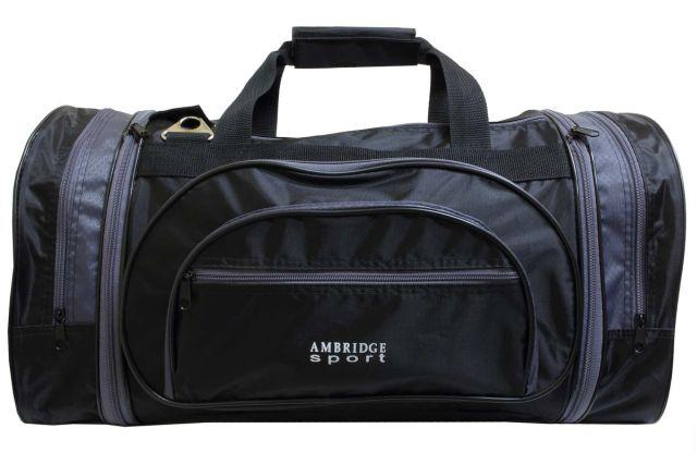 1201к сумка спортивно-дорожная черная/серая