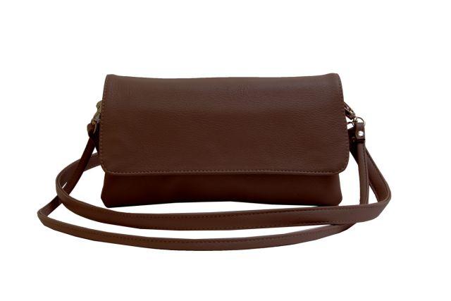 0954 сумка женская коричневая