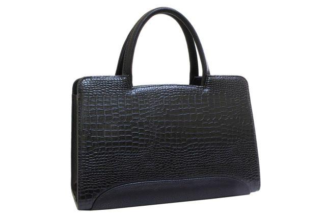 0222 сумка женская черный крок