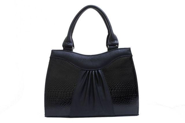 1135 сумка женская черная/черный лак