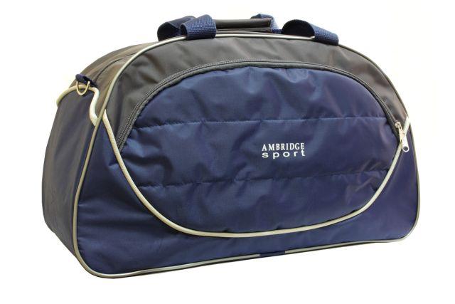 1116к сумка спортивно-дорожная синяя/серая