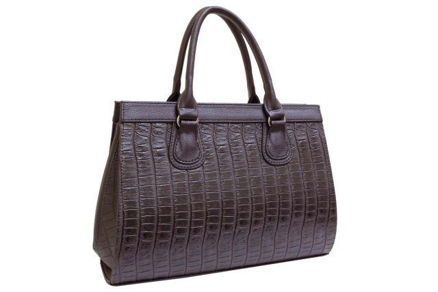 1214 сумка женская коричневый крок