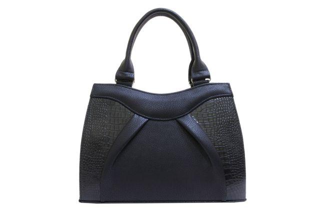 1137 сумка женская черная/черный крок