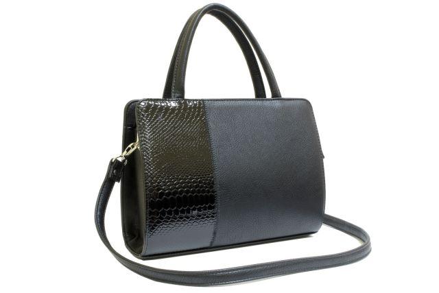 0427 сумка женская черная/черный лак
