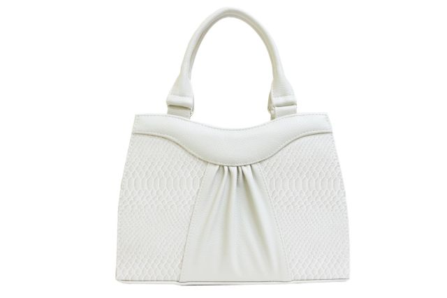 1135 сумка женская бежевая/бежевый крок