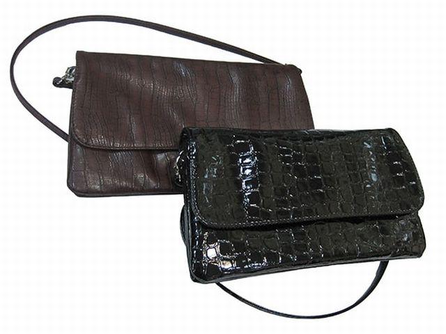 0954 сумка женская коричневая рептилия