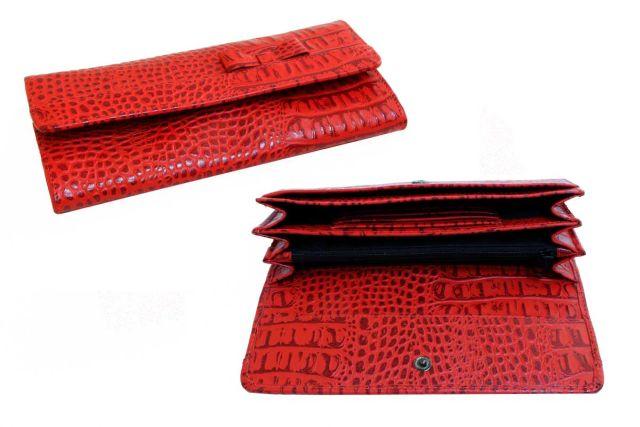 1324н портмоне крок красный
