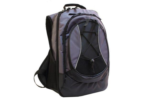 0816к рюкзак черный/серый