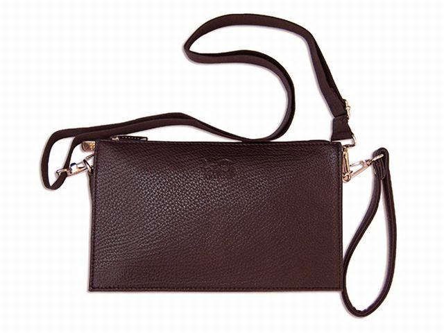 1414 сумка мужская молодежная коричневая