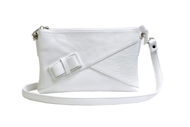 1404 сумка женская белая