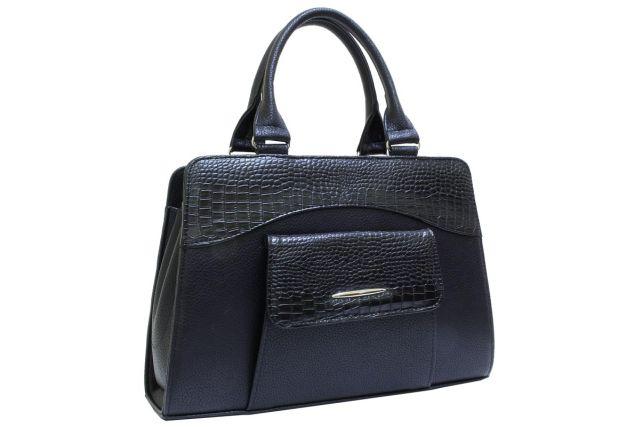1221 сумка женская черная/черный крок
