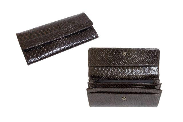 1324н портмоне крок коричневый