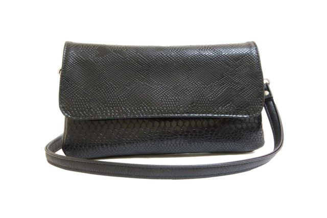 0954 сумка женская черная/черный крок