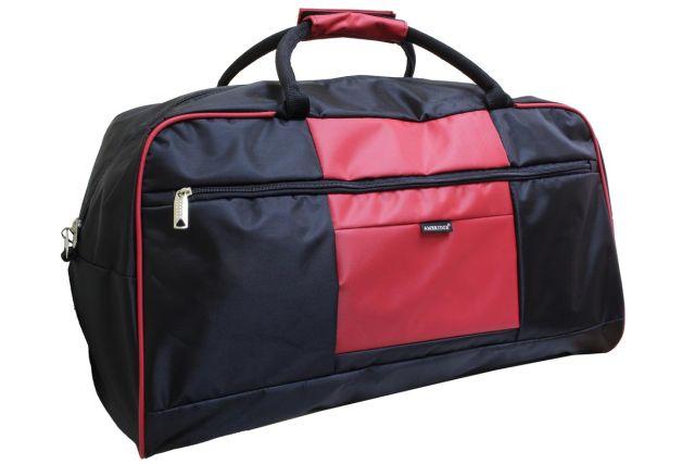 1106к сумка дорожная черная/красная