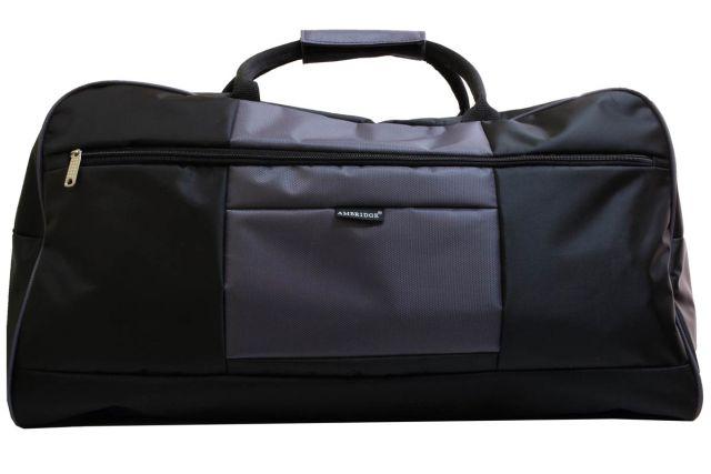 1106к сумка дорожная черная/серая
