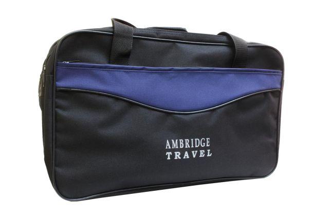 1510к сумка дорожная черная/синяя