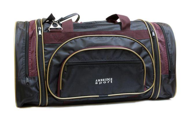 1201к сумка спортивно-дорожная черная/бордовая
