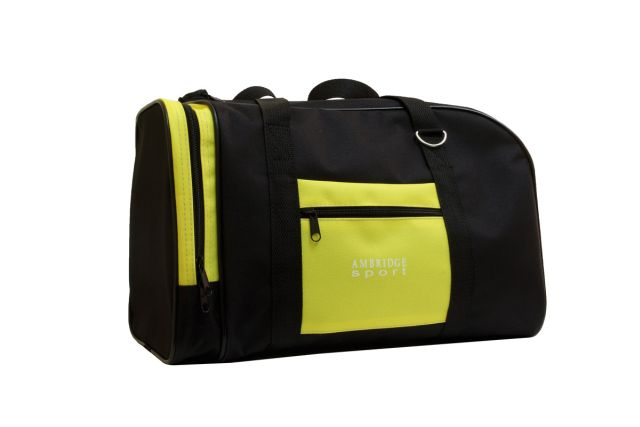 0141к сумка спортивно-дорожная черная/желтая