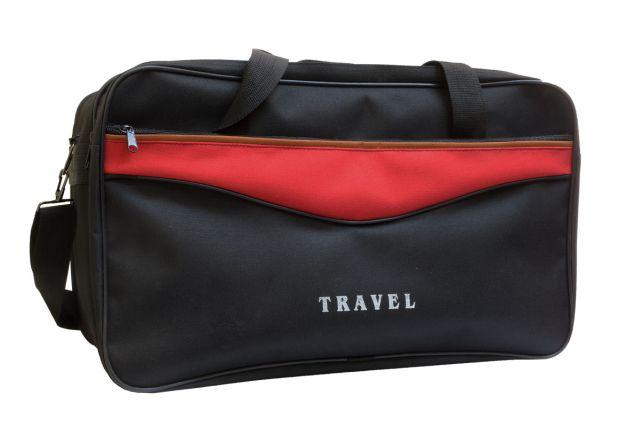 1510к сумка дорожная черная/красная