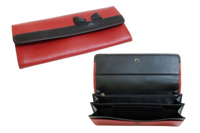1324н портмоне красный/черный