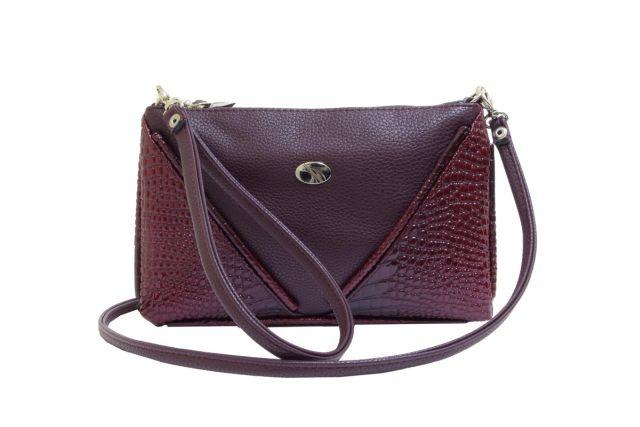 1315 сумка женская бордовая