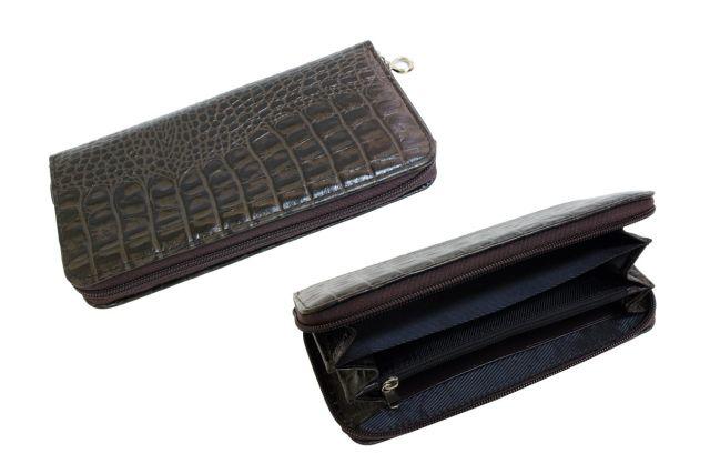 1601н портмоне коричневый крок