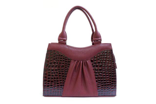 1135 сумка женская бордовая/бордовый лак