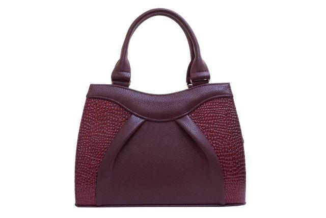 1137 сумка женская бордовая/бордовый лак
