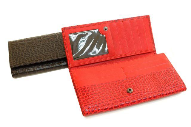 1618н портмоне красный крок