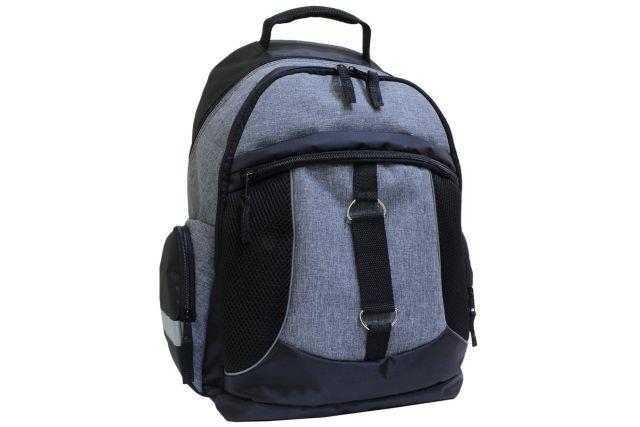 1009к рюкзак черный/серый