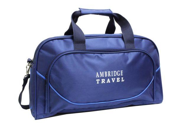 0528к сумка спортивно-дорожная синяя