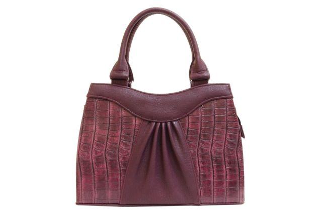1135 сумка женская бордовая/бордовый крок