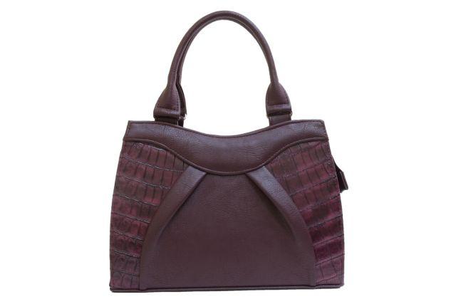 1137 сумка женская бордовая/бордовый крок