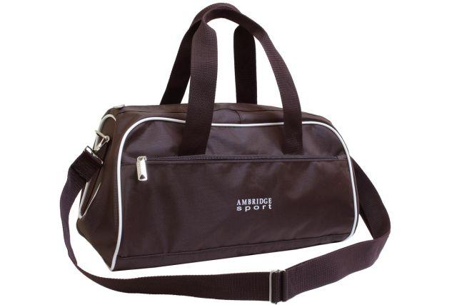 0748к сумка спортивно-дорожная коричневая