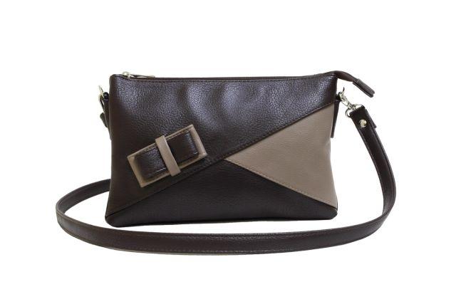 1404 сумка женская коричневая/бежевая