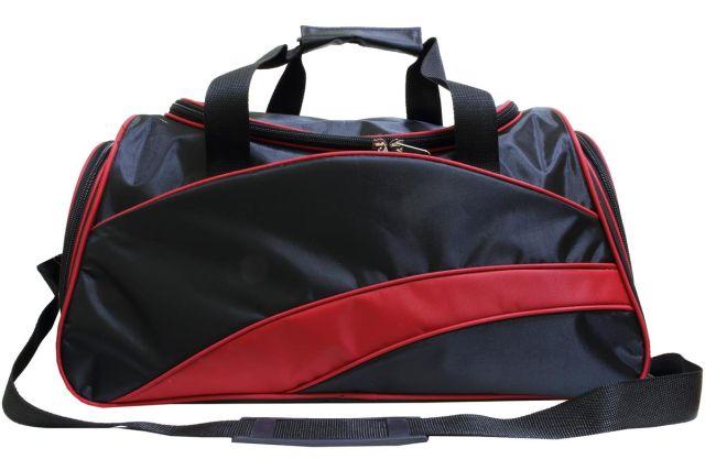 0806к сумка спортивно-дорожная черная/красная