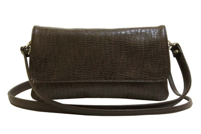 0954 сумка женская коричневый крок