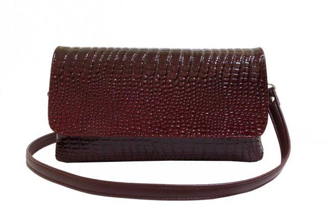 0954 сумка женская бордовый лак