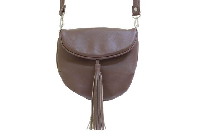 1209 сумка женская коричневая